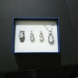 Jewelry - Simulated white diamond, White Austrian Crystal